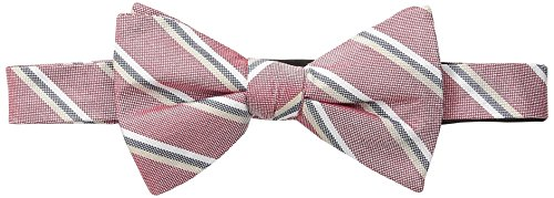 Ben Sherman Men's Brasilia Stripe Bow Tie, Red, One Size
