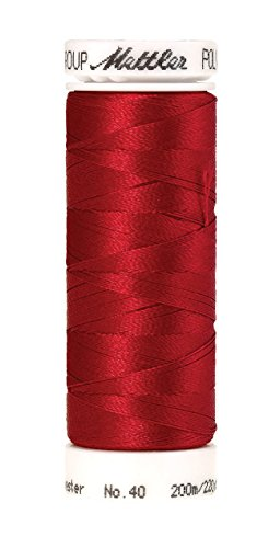 Mettler Poly Sheen Polyester Embroidery Thread, 220 yd, Lipstick ()