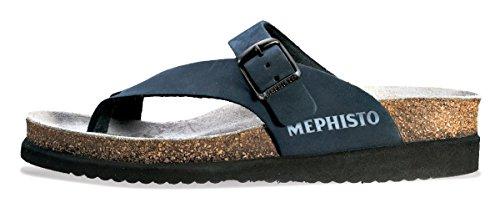 Mephisto Women's Helen Flats Sandals, Navy Nubuck, Size - 9