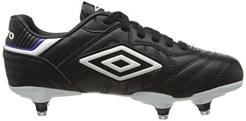 Umbro Speciali Eternal Club SG-Jnr, Botas de Fútbol Para Niños Negro (Dju-Black/White/Clematis Blue)