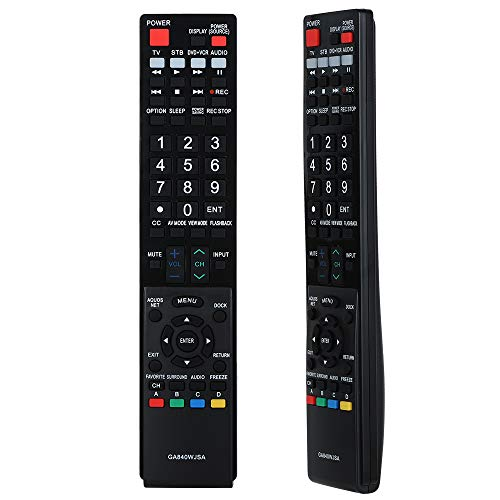 Gvirtue GA840WJSA Remote Control Compatible Replacement for Sharp TV/DVD/LCD/LED, LC-40LE810 LC-40LE820 LC-46LE810 LC-46LE820 LC-52LE810 LC-52LE820 LC-60LE810 LC-60LE820