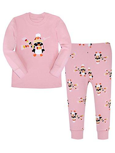 ALove Girls Chrismas Pajamas Set Cotton Pjs Sleepwear Long Sleeve Kids Clothes (Kids Dressing Up Clothes)