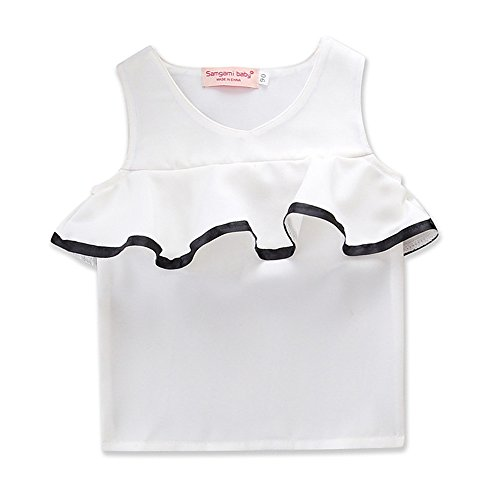 Price comparison product image Samgami Baby Girls With Mom Parent-Child Clothing Thin Section T-Shirt Summer Daily Clothes (Tag130 / 5-6Y,  White)