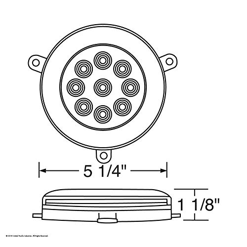 21 High Power LED 05+ Freightliner Century Glo Signal Light - Amber LED/Clear Lens by United Pacific (Image #8)