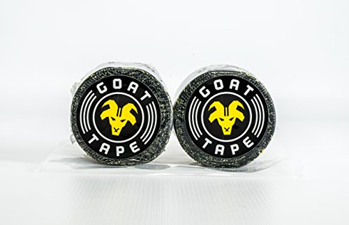 Goat Tape Scary Sticky Premium Athletic / Weightlifting Tape, Black & Yellow, 2 Pack