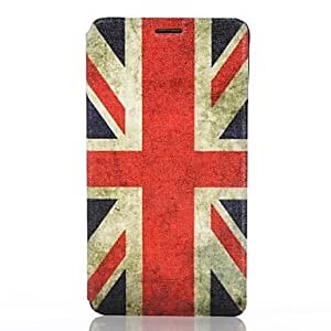 ZXC British Flag Pattern PU Leather Full Body Cover with Card Slot for Samsung Galaxy Note 4