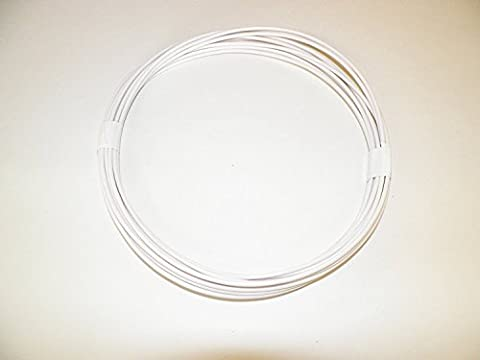 18 Ga White Automotive/General Purpose GXL Wire .94 O.D. 25' Superior Abrasion Resistance, High Heat, Resist grease,Oil, - Purpose Marine Grease
