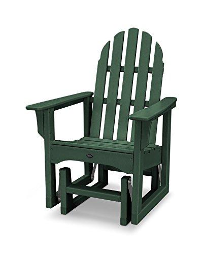 Trex Outdoor Furniture Cape Cod Adirondack Glider Chair in Rainforest Canopy