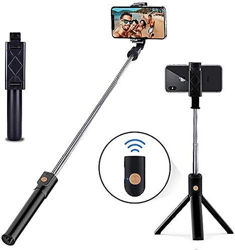 HISAYSY Selfie-Stick Galaxy S9 // S9 // S8 // S8 Plus // Note8 Huawei Stativ f/ür iPhone X//iPhone 8//8 Plus//iPhone 7//7 Plus Bluetooth Handy Selfie Stativ mit Abnehmbarer Fernbedienung