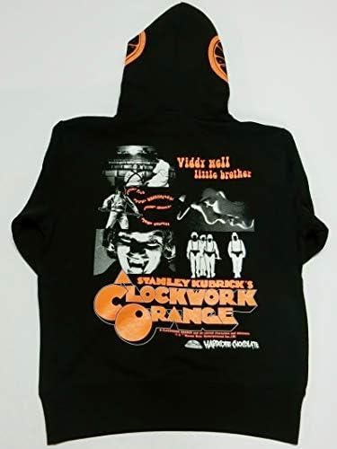 時計じかけのオレンジプルオーバーパーカ(Droogブラック)