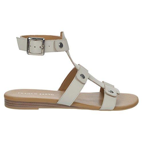 Sandalo Con Zeppa In Pelle Di Franco Sarto Bianca