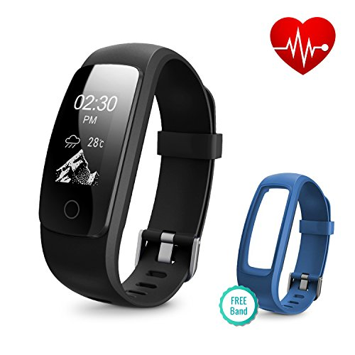 - Runme Fitness Tracker with Heart Rate Monitor, Activity Tracker Smart Watch with Sleep Monitor, IP67 Water Resistant Walking Pedometer with Call/SMS Remind for iOS/Android