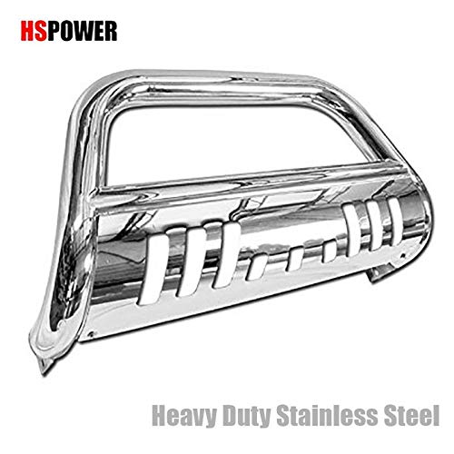 HS Power Chrome Heavyduty Bull Bar for Toyota 4runner / Lexus GX470 03-09 Models HD Steel Brush Push Front Bumper Grill Grille Guard