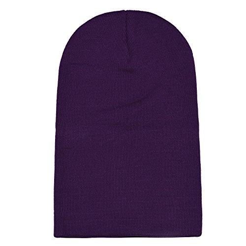 de Oscura diseño y DonDon abrigo gorro Púrpura beanie moderno invierno de clásico slouch gorro suave xCwqFnB4Tw