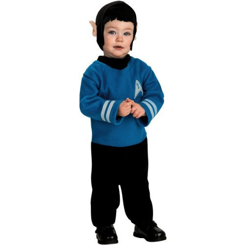 Star Trek Movie Toddler Costume Blue Mr Spock - Infant (Star Trek 7 Of 9 Costume)