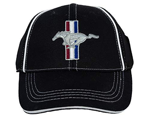 Ford Mustang GT Fitted FLEXFIT Fine Embroidered Hat Cap, Black ()