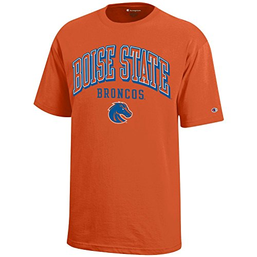NCAA Champion Boy's Short Sleeve Jersey T-Shirt Boise State Broncos Large ()