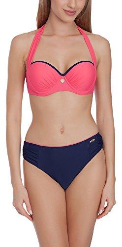Aquarilla Bikini Conjunto Push Up para Mujer Lyon Azul Claro / Verde
