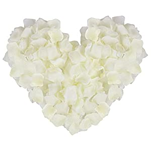 Jasmine 1000 PCS Non-Woven Wedding Petals Rose Petals for Flower Girl Bridal Shower Hotel Home Flower Decoration(Ivory) 19