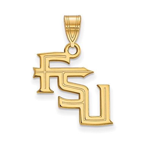 Florida State Medium (5/8 Inch) Pendant (14k Yellow Gold) by LogoArt