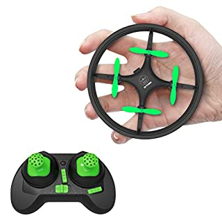 Mini Drones for Kids and Beginners Training RC Nano Quadcopter Indoor Small UFO Helicopter Toys with Altitude Hold, Headless Mode, One Key Return, Speed Adjustment, LED Lights, Black