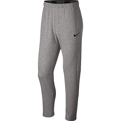 Nike Men's Dry Fleece Training Pants, Dark Grey Heather/Black, X-Large Tall
