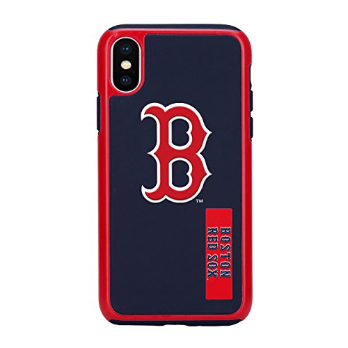 Forever Collectibles iPhone X Dual Hybrid Impact Licensed Case – MLB Boston Red Sox