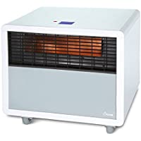 Crane EE-8077W Infrared Space Heater With Quartz Heating Element (White)