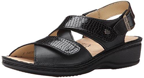 Finn Comfort Jersey-82521, Black Nappa/Kenia 42 (US Women's 11.5-12) Medium