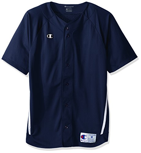 Champion Men's Prospect Full Button Jersey, Navy/White, M ()