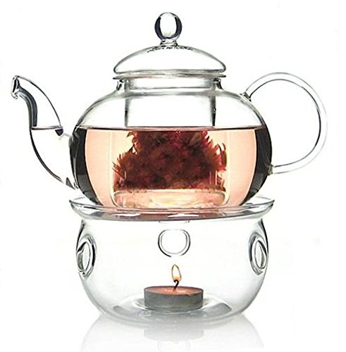 TEAlise 27 OZ Glass Filtering Infuser Tea Maker Teapot With a (Filtering Glass Teapot)