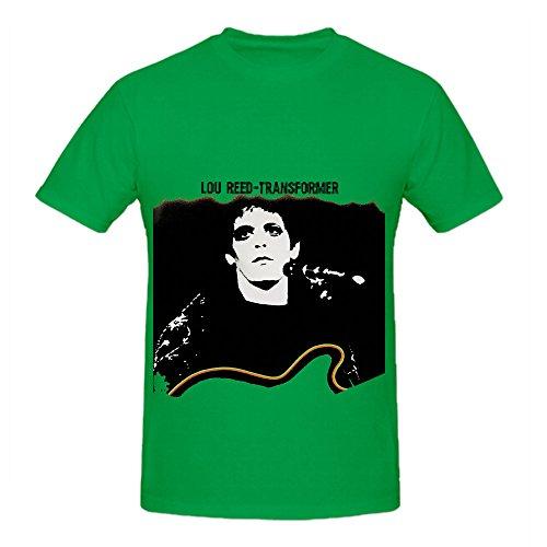 Lou Reed Transformer Roll Mens O Neck Graphic Shirts Green (Adult Cheer Bear Dress)