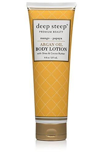Deep Steep Argan Oil Body Lotion, Mango Papaya, 8 Fluid Ounce