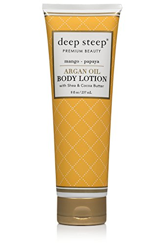 Mango Papaya Fragrance (Deep Steep Argan Oil Body Lotion, Mango Papaya, 8 Fluid Ounce)