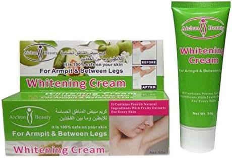 JUNKAI Skin Whitening Cream Bleach Sports Armpit Elbow Knee Underarm Inner Thigh 50g