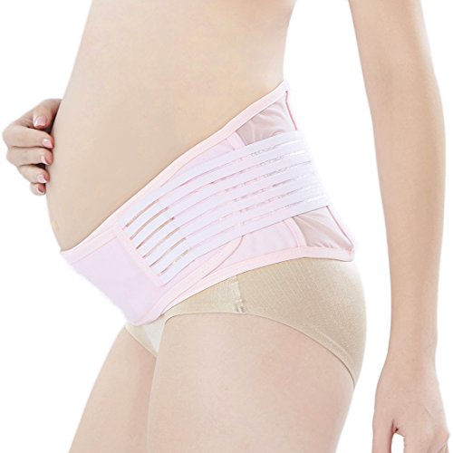 Maternity Belt,Belly Band for Pregnancy,Back and Pelvic Support,Top 10 Gifts for Women/Mom,Prenatal Cradle for Baby-Pink by Blomed