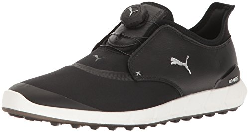 (Puma Men's Ignite Spikeless Sport Disc Golf-Shoes, Puma Black-Puma Silver, 10.5 Medium US)