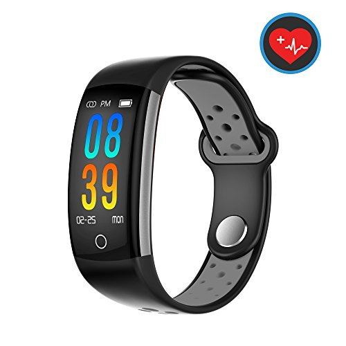 Fitness Tracker Watch,MOZEEDA Smart Watch with Blood Pressure Monitor,IP68 Waterproof Activity Tracker with Calorie Counter Watch Pedometer Sleep Monitor Bands for Women Men,Mother's Day Gift (Grey)