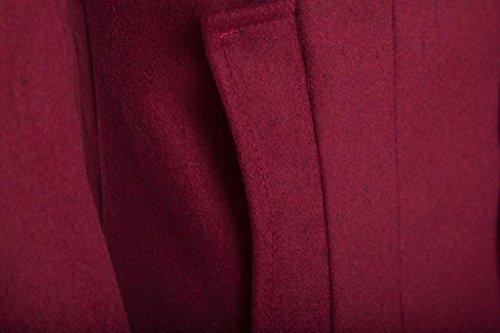 RETUROM chaqueta chaqueta los para de hombres la Ropa espesar de Moda hombre caliente la largos de el abrigo Vino abrigo de qIwZ7