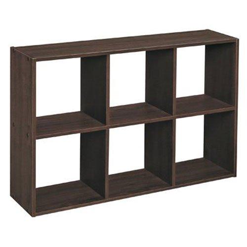 closetmaid cubeicals mini 6 cube organizer espresso