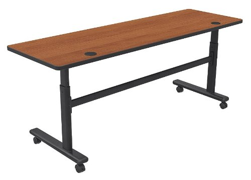 Height Adjustable Flipper Training Table Color: Amber Cherry / Black, Size: 72