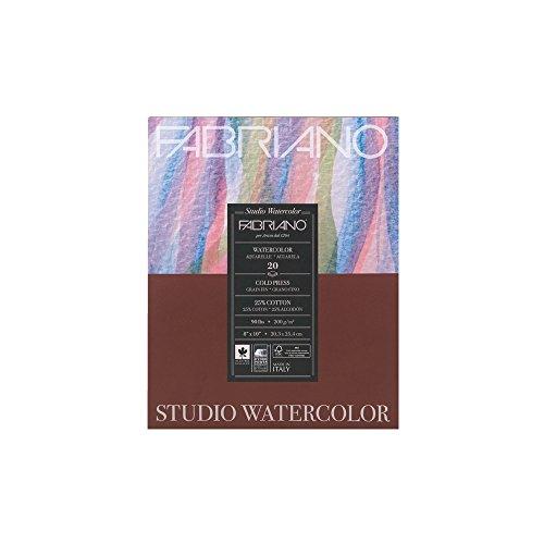 Fabriano Studio Watercolor Pad 8X10 CP 200G (Studio 8 Paper)