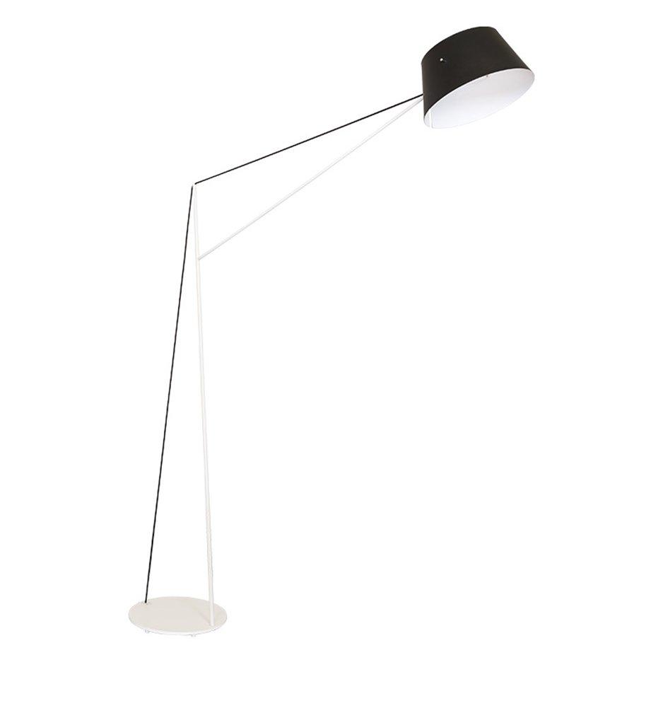 JCRNJSB® 釣りフロアランプ、アイアンポストモダンノルディックリビングオフィスフットスイッチE14 * 1高190cm 照らすために調光可能 ( 色 : 白 ) B07CMQN37N 白