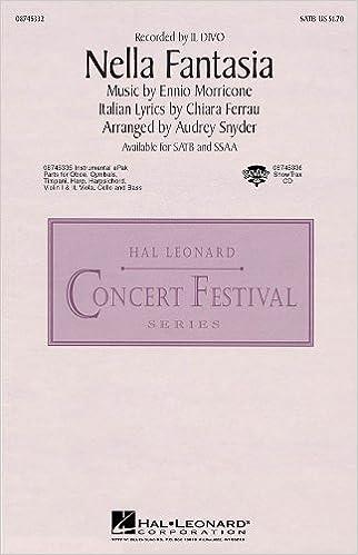Nella Fantasia (In My Fantasy) - Recorded by Il Divo - SATB