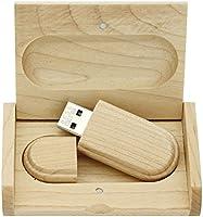 yaxiny 8 GB 3.0 de Arce Madera Unidad flash USB con caja de madera (8.0 GB): Amazon.es: Electrónica