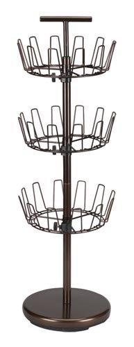 Revolving Coat Rack - Household Essentials 2138 Three-Tier Adjustable Revolving Shoe Rack | Bronze