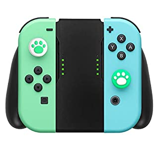 Comfort Grip Compatible with Nintendo Switch Joy-Con Controller, 2 Pcs Cute Thumb Grip Caps Included