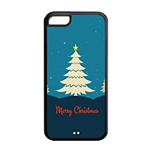 diy zhengTPU Case Cover for iphone 5c Strong Protect Case Cute Merry Christmas Tree with lights Case Perfect as Christmas gift(4)