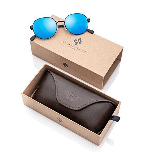 en 11137 Alejandro Designer sol azul de Music Sanz unisex Blue Gafas wqtx48rZq
