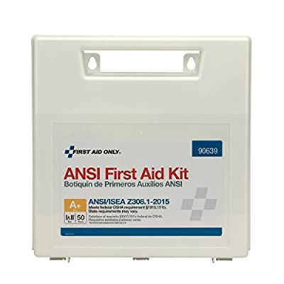 First Aid Only ANSI 2015 Compliant, First Aid Kit by Pac-Kit